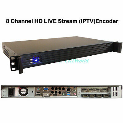 8 Channel HD Live Stream Encoder HDMI Capture Real-time Encoding RTMP Publishing