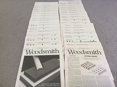 Lot of 36 Issues(vol 1, No. 1 to  No,36) Woodsmith Magazine Notes from the Shop