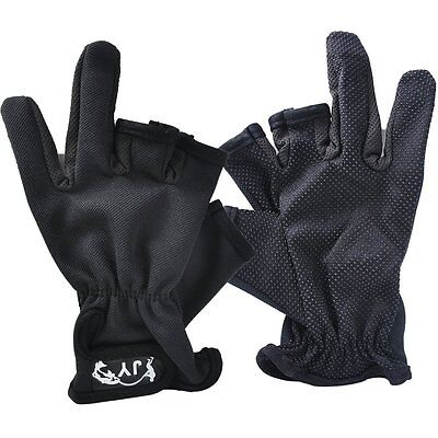 One Pair New Nylon Nonslip 3 Fingerless Low Cut Fingers Anti Slip Fishing Gloves