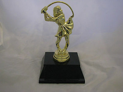Golf Female Comic Figurine Trophy 140mm Engraved FREE