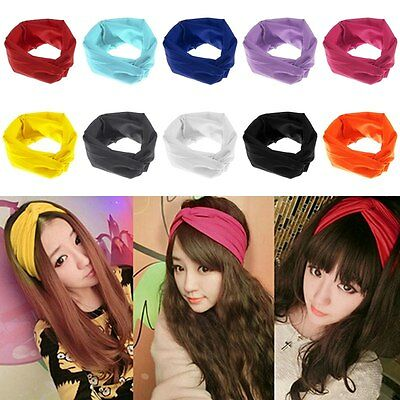Women's Soft Turban Twist Headband/Head Wrap Twisted Knotted Knot Hair Band