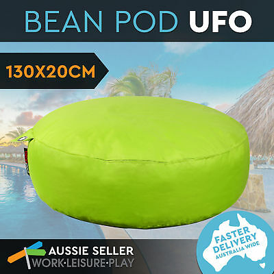 New BeanPod Chair Couch Soft Round BeanBag Cover Waterproof Indoor Outdoor Green