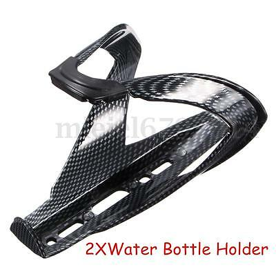 2X Glass Fibers Bike Bicycle Cycling Road Glass Water Bottle Holder Cages Black