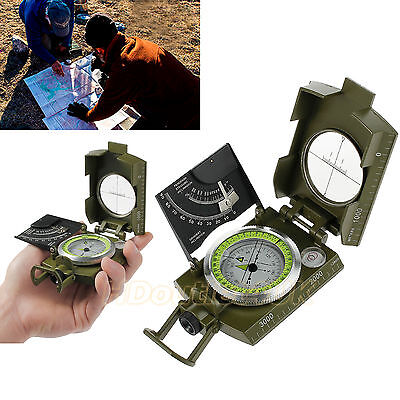 Professional Military Map Army Metal Sighting Compass Clinometer Camping Outdoor