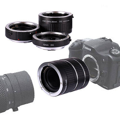 Neewer AF Automatic Macro Extension Tube 12+20+36mm Set for Canon EF-S Lens USA