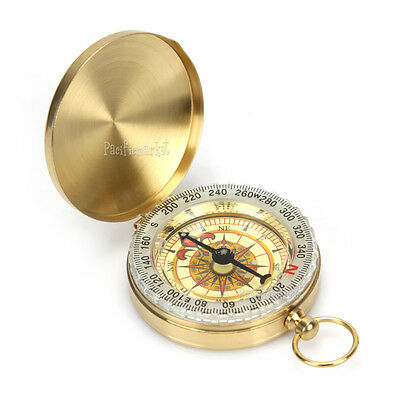 Portable Luminous Compass Classic Pocket Watch Bronzing Hiking Outdoor Camping