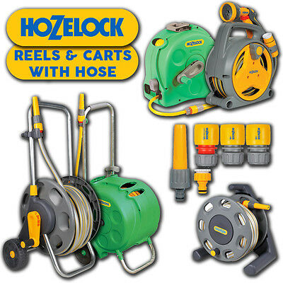 Hozelock Reels & Carts Garden Hose Pipe Spray Gun Nozzle Various Sizes Watering