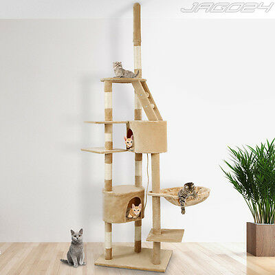 Cat Tree Scratching Post Activity Centre Pet Kitten Toy Sisal Play Rest Nap