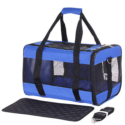 Pet Carrier Dog Cat Chihuahua Yorkie Airline Car Vet Puppy Train Travel Handbag