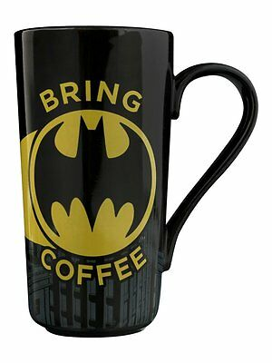 Batman Signal Boxed Latte Large Tall Coffee Retro Mug Official DC Comics Black