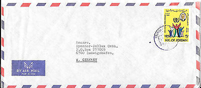 Jordan 1980's Commercial Airmail Cover to West Germany