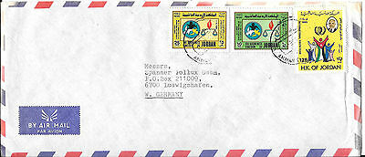 Jordan 1985 Commercial Airmail Cover to West Germany