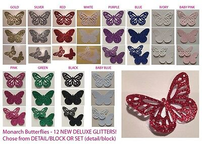 Butterflies (Monarch) DELUXE GLITTER! Multi Listing! 30 Pieces! *NEW*