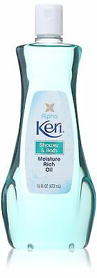 8oz Keri Shower & Bath Moisture Rich Oil Emollient Seals-In Moisture Soft Skin
