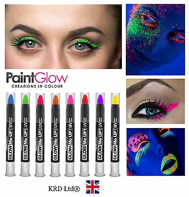100% Genuine Paint Glow UV Reactive Glow Neon Fluorescent Rave Eye PAINT LINER