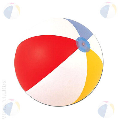 "Inflatable Beach Ball 16"" 20"" 24"" Blowup Panel Holiday Party Swimming Garden Toy"