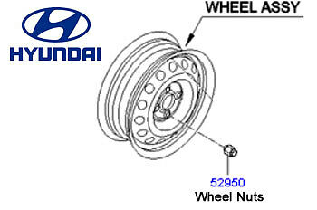 Genuine Hyundai i20 Steel Wheel - 529101J100