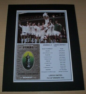 Leeds United - 1972 FA Cup Winners Print Mounted To A4