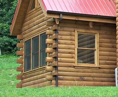 Log Cabin Starter Pkg 24' x 30' D-Log Includes Logs, Screws, Foam Tape $7,230.00
