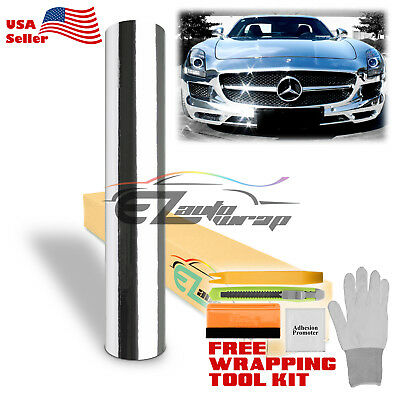 *Premium Chrome Silver Vinyl Film Wrap Sticker Decal Air Release Bubble Free DIY