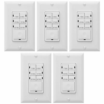 In-Wall Countdown Timer Switch With LED Indicator Enerlites HET06A (5 Pack)