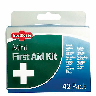 42 Piece Emergency First Aid Kit,Car Holiday Home Office ,Camping Travel Size