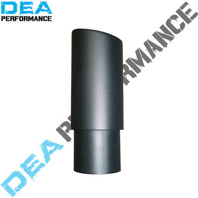 Dea Matte Black-Double Walled Angle Cut Exhaust Tip 2.5'' Inlet