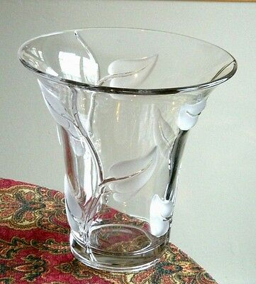 Russel Wright for American Way Satin Leaf Large Vase by Duncan Miller Glass Co.