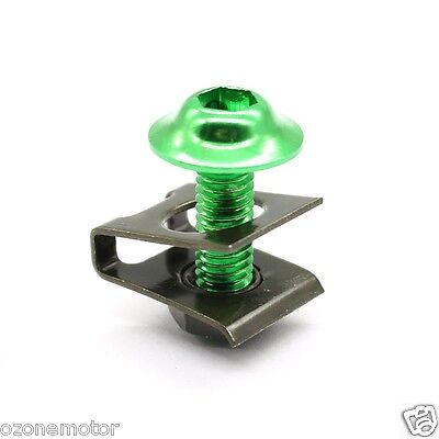 ONE Fairing Bolts Clips Spring Nuts GREEN