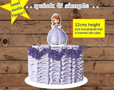 Sofia the First princess XL EDIBLE wafer cake topper STAND UP