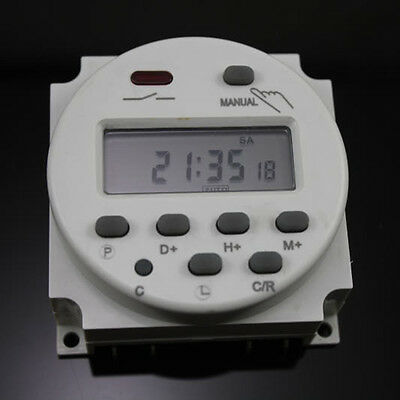 1/4Pcs 24VDC Digital LCD Power Programmable Timer Time Switch Relays 16A CN101