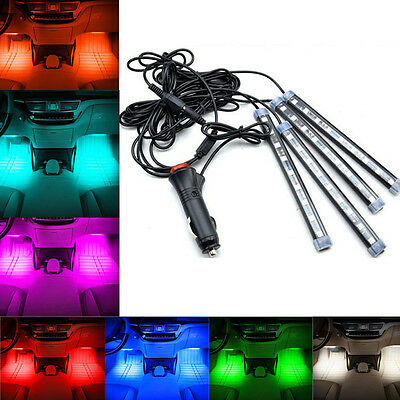Glow Full Color Car LED Interior Kit FootWell Floor Seats Inside Light For Jeep