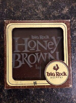 Big Rock Honey Brown Glass Coasters (set of 2)