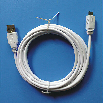 Adapter White 3M USB Charger Cable For Nintendo Wii U WIIU Gamepad Controller