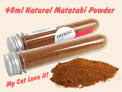 40ml Tube Matatabi Polygama Natural Catnip Powder Refill Treat Cat Toy Relaxing
