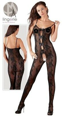 Bodystocking aperta Tg S/M Mandy Mystery Sexy Shop catsuit lingerie eros 2550350