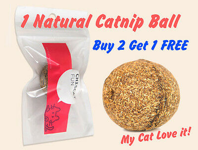 Natural Organic Strong Dried Catnip Ball Relax Cat Kitten Toy Treat Digestion