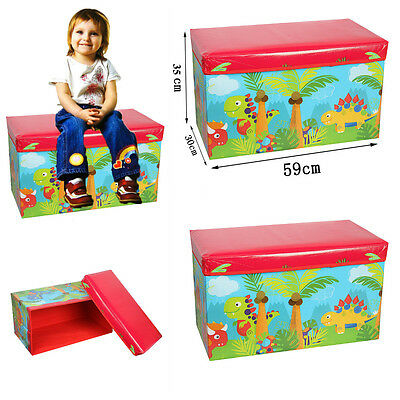 New Dinosaur Childrens Storage Books Toys Clothes Chest Seat Organizer(Si-Ss102)