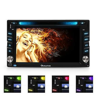 "Car Radio Bluetooth Dvd Cd Player Flip Down 6.2"" Lcd Screen Sd Usb Mp3 Rca Am Fm"
