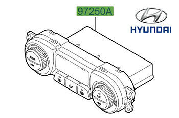 Genuine Hyundai i20 Heater Control Unit - 972501J800UX