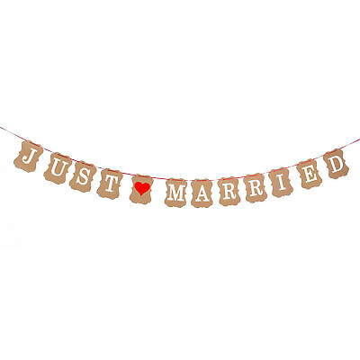 Just Married Girlande Hochzeit Dekoration