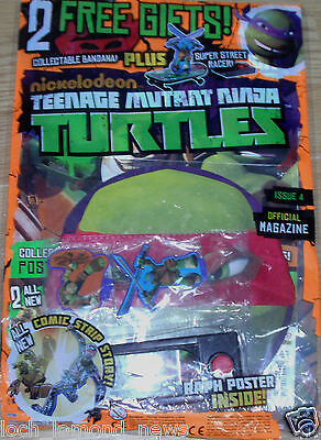 Teenage Mutant Ninja Turtles magazine #4  + Street Racer Toy & Red Bandana