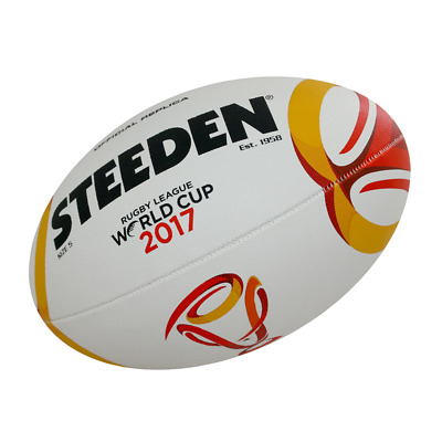 Steeden RLWC 2017 Official Replica NRL Rugby Match Ball Size 5 Football Footy