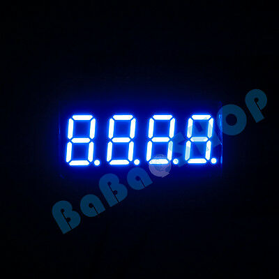 "New 0.36"" 0.36 inch 7 Segment Display Blue LED 4 Digit Common Anode"