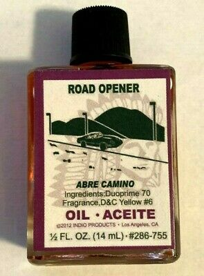 Brand New Glass Bottle INDIO ROAD OPENER ABRE CAMINO Oil Indio