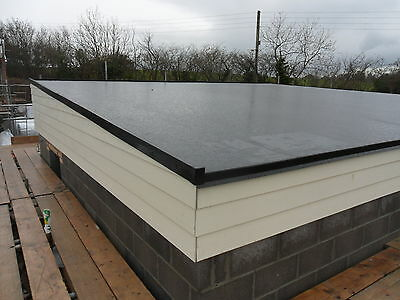 Rubber Roofing Kit for Flat Roofs - EPDM Membrane and Trims/Caps/Adhesive/Corner
