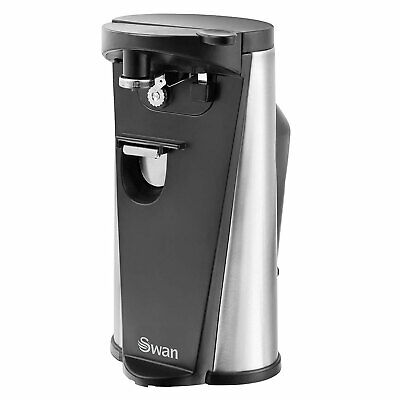 Swan 3 in 1 Electric Can Opener With Knife Sharpener & Bottle Opener - SP20110N