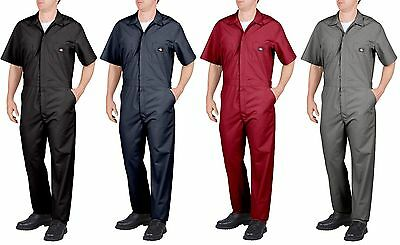 Dickies 33999 Coverall Mens Workwear Short Sleeve Black Dark Navy Gray Red New