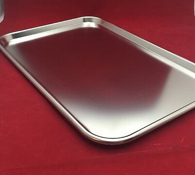 """NEW Stainless Steel Instrument Tray Cres. Type II Size 4 19""""x12.5""""x.75"""""""