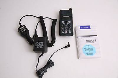 Vtg 90s Motorola Cellular Lifestyle Phone Cell Phone Complete Kit Working! Mint!